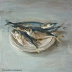 Fish on Dish, 20x20, oil on panel