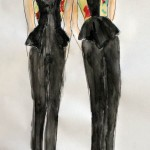watercolor sketch of black jumpsuit and vest JEFF_ use FRONT only