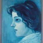 Pablo Picasso, Tête de Femme, 1904, Oil on canvas