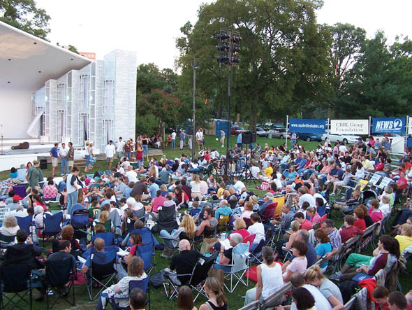 Crowd at Shakespeare in the Park