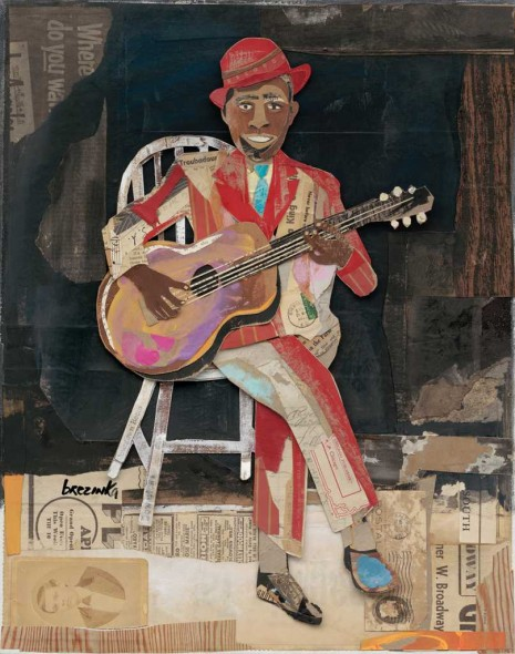 "Robert Johnson, Collage mixed media, 24"" x 20"""