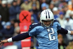 NASHVILLE, TN - DECEMBER 03:  Kicker Rob Bironas #2 of the Tennessee Titans kicks the game winning field goal against the Indianapolis Colts in the fourth quarter on December 3, 2006 at LP Field in Nashville, Tennessee. The Titans defeated the Colts 20-17.  (Photo by Ronald Martinez/Getty Images)