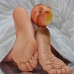 Feet with Nectarine