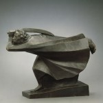 Ernst Barlach. The Avenger, 1914 (cast in 1930). Bronze, 17 1/2 x 8 1/2 x 23 1/2 in. Gift of Mrs. George Kamperman in memory of her husband Dr. George Kamperman, Detroit Institute of Arts, 64.260