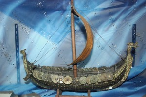 Viking dragon ship or longship
