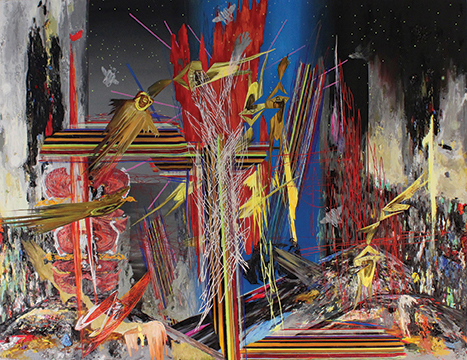 """M3-9D13, 2013, Oil and acrylic resin on canvas, 60"""" x 78"""""""