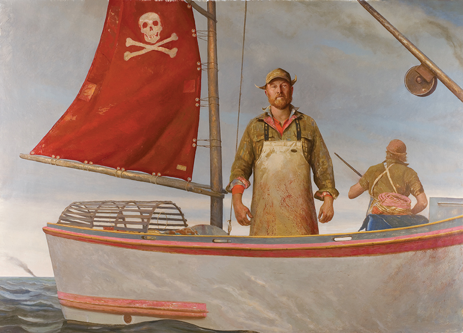 "The Lobster Wars, 2007, Oil on linen, 80"" x 112"""