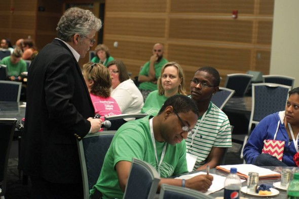 Bruce Taylor works with educators