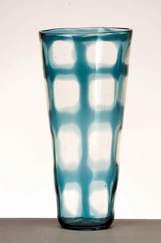 "Window Vase, 2009, Glass,  5"" x 5"" x 16"""