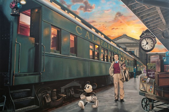 "The Journey Begins, 2012, Acrylic on canvas, 40"" x 60"""