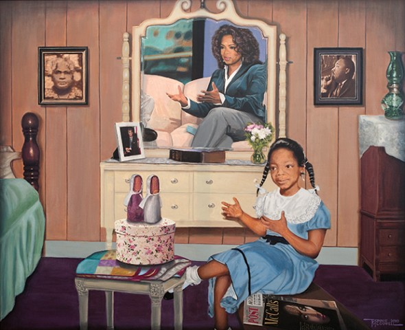 "Reflection of a Talk Show Queen, 2010, Acrylic on canvas, 30"" x 36"""