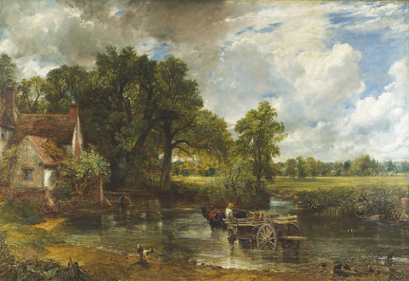 "John Constable, The Hay Wain, 1821, Oil on canvas, 51.3"" × 73"""