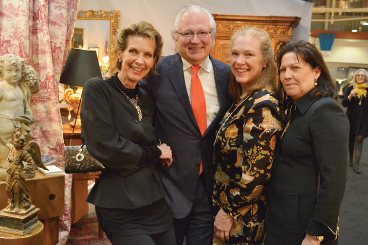 Jackie and John Hicks, Casey McAlister, Mary Lewis – Antiques and Garden Preview Party