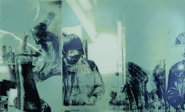 """Untitled,2013, Polyester lithography print on Dura-lar, 16.5"""" x 30"""""""