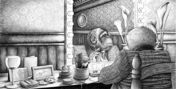 "A Report For An Academy: Part I, 2012, Pencil, 6.25"" x 18"""