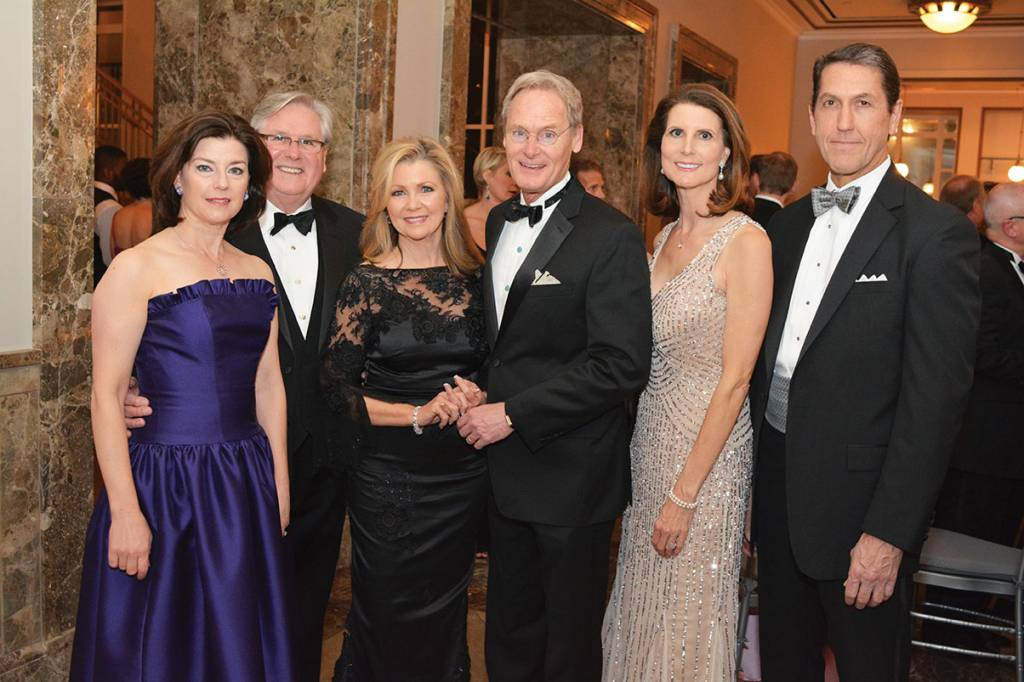 Elizabeth and Lynn Greer, Marsha and Chuck Blackburn, Nancy and John Cheadle – Ballet Ball