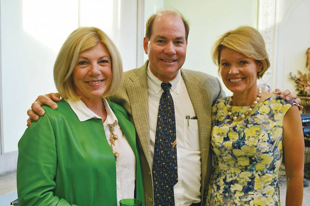 Co-chair Elizabeth and Jack Wallace, Co-chair Anne Nesbitt – Howe Wild Garden Party