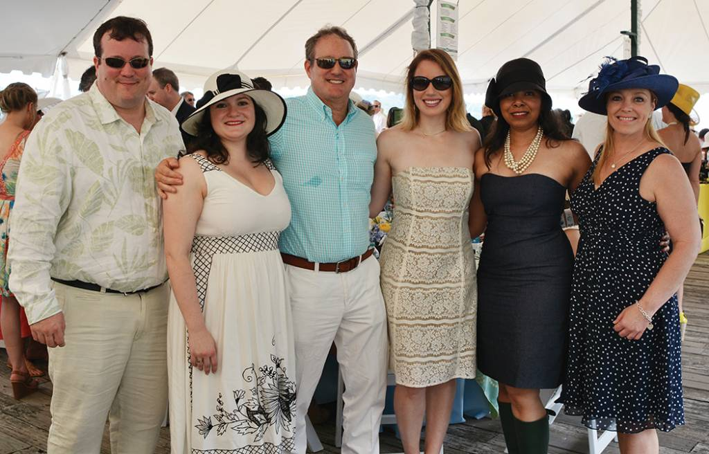 Andrew and Sara Burd, Paul and Olivia Burd, Joy Fauntleroy, Heather White – Steeplechase