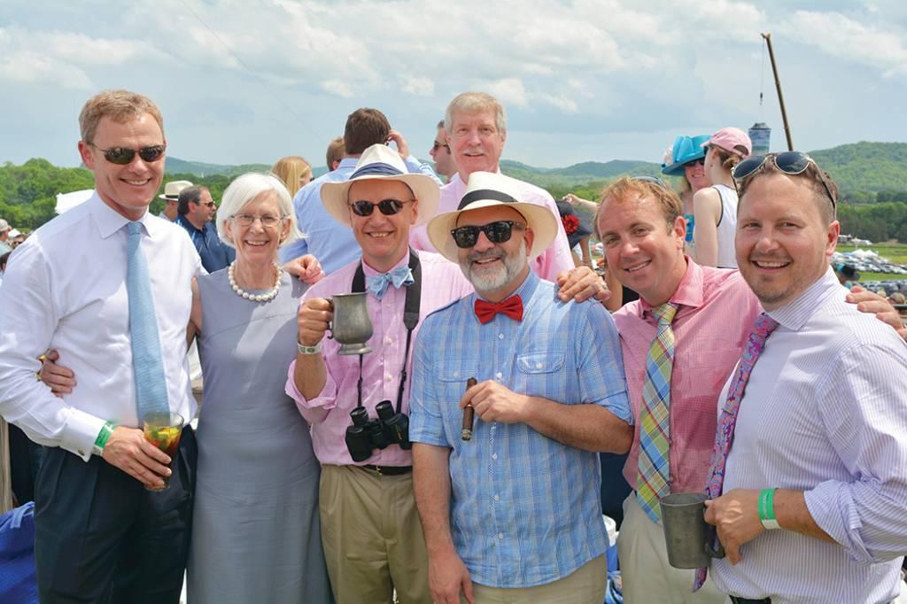 Earl Jimmy Brecknock, Louise McKenzie, Lord Briggs, Shawn Ljunggren, Clint Bunn, Ed Nash, Donald McKenzie (in back) – Steeplechase
