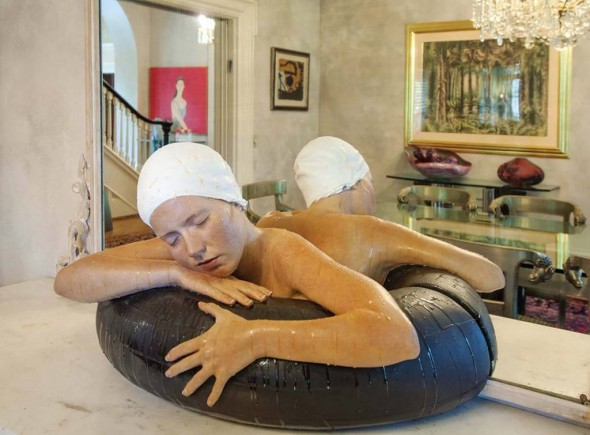 Dining Room: Carole A. Feuerman, Swimmer, Painted resin