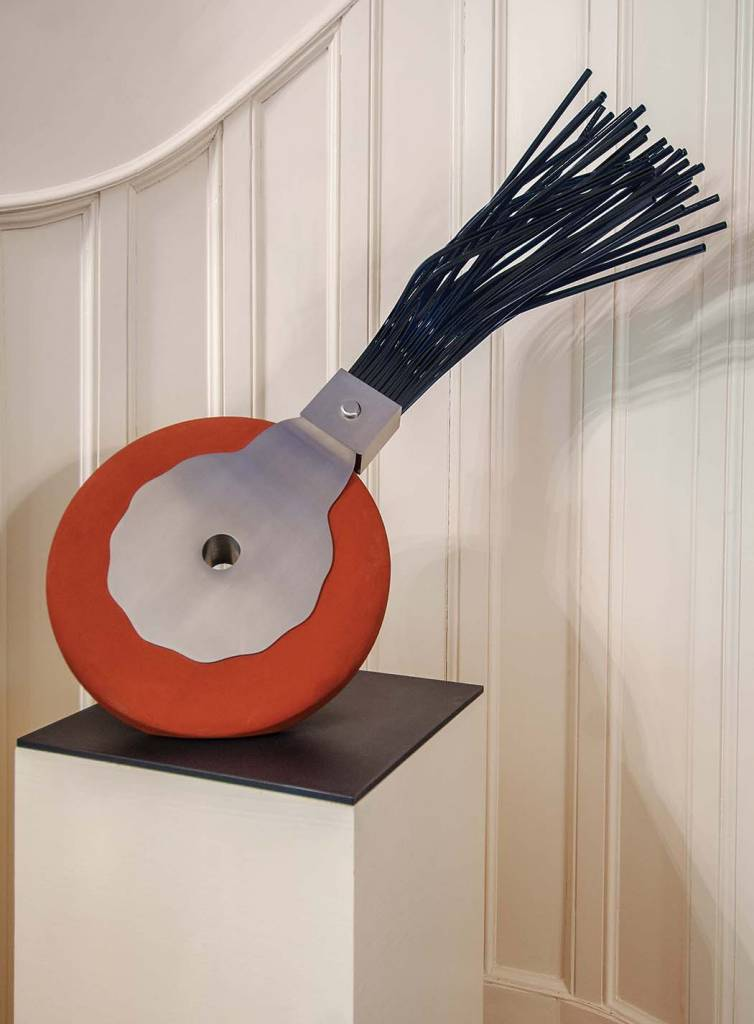 Foyer: Claes Olderberg, Typewriter Eraser, Concrete, stainless steel, and oxidized aluminum