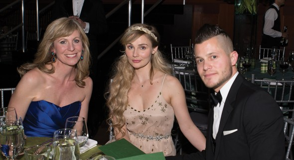 Martha Vester, Clare Bowen, and Brandon Young