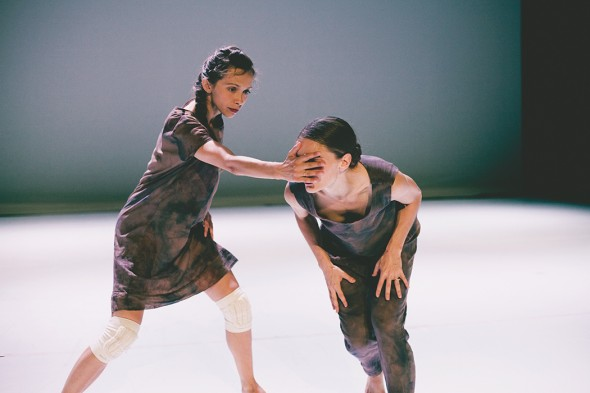 Ana Maria Lucaciu and  Banning Bouldin performing Emin. Photograph by Eden Frangipane