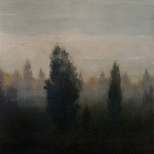 """Lonesome Place (detail), Oil on canvas, 36"""" x 36"""""""