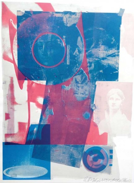 "Robert Rauschenberg, Quarry, 1968, Color lithograph, 35"" x 26"""