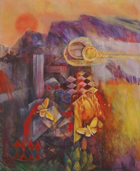 """Jairo Prado, Journey to Macondo, Acrylic on canvas, 67"""" x 52"""""""