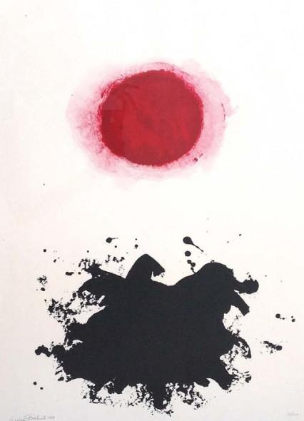 "Adolph Gottlieb, Flight Portfolio, 1969, Color lithograph, 26"" x 20"""