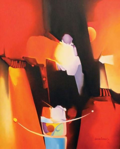"""Orlando García-Camacho, Portal, Oil on canvas, 48"""" x 36"""""""