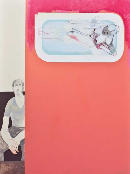 "Nicky, 2015, Mixed media on canvas, 108"" x 72"""