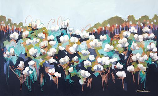 "Cottonland, Acrylic on canvas, 30"" x 48"""