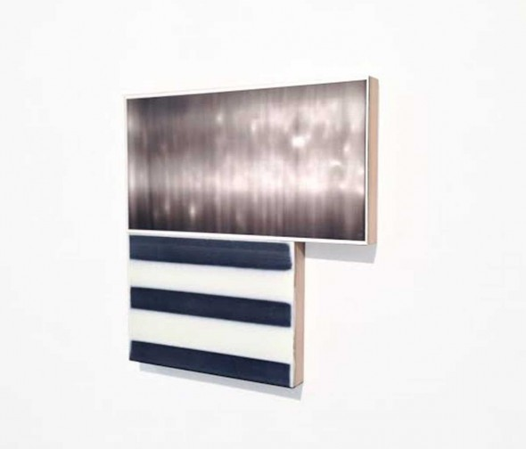 "Ben Dallas, Fauxtos 30, 2015, Acrylic glaze, polypropylene, board, plywood, 9 1/2 "" x 10 1/4"""