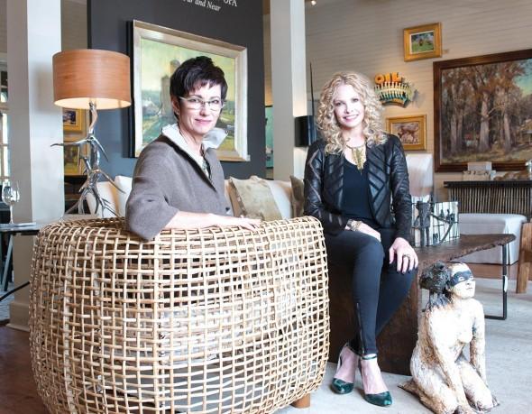 Gallery Owner Lisa Fox And Interior Designer Robin Rains