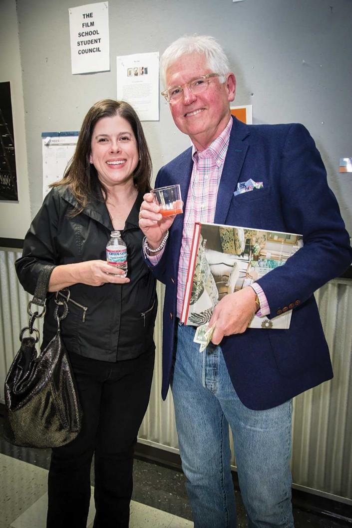 Anna Jaap and Steve Sirls at Parish-Hadley celebration at Watkins College of Art, Design & Film