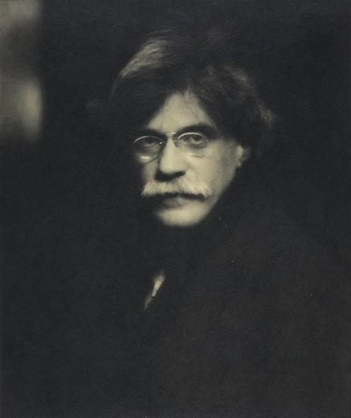 "Alfred Stieglitz, Self-Portrait, 1907 (printed 1931), Platinum print, 9"" x 8"""