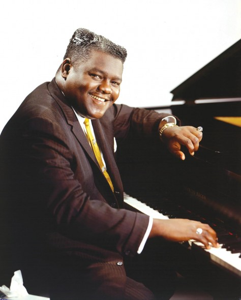 Fats Domino at the piano; Photograph courtesy of Getty Images