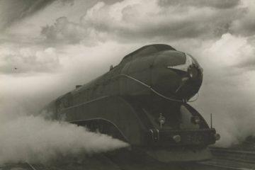 Arkady Shaikhet, Express, 1939. Gelatin silver print, 15 5/8 × 21 1/8 in. Nailya Alexander Gallery, New York. Artwork © Estate of Arkady Shaikhet, courtesy of Nailya Alexander Gallery