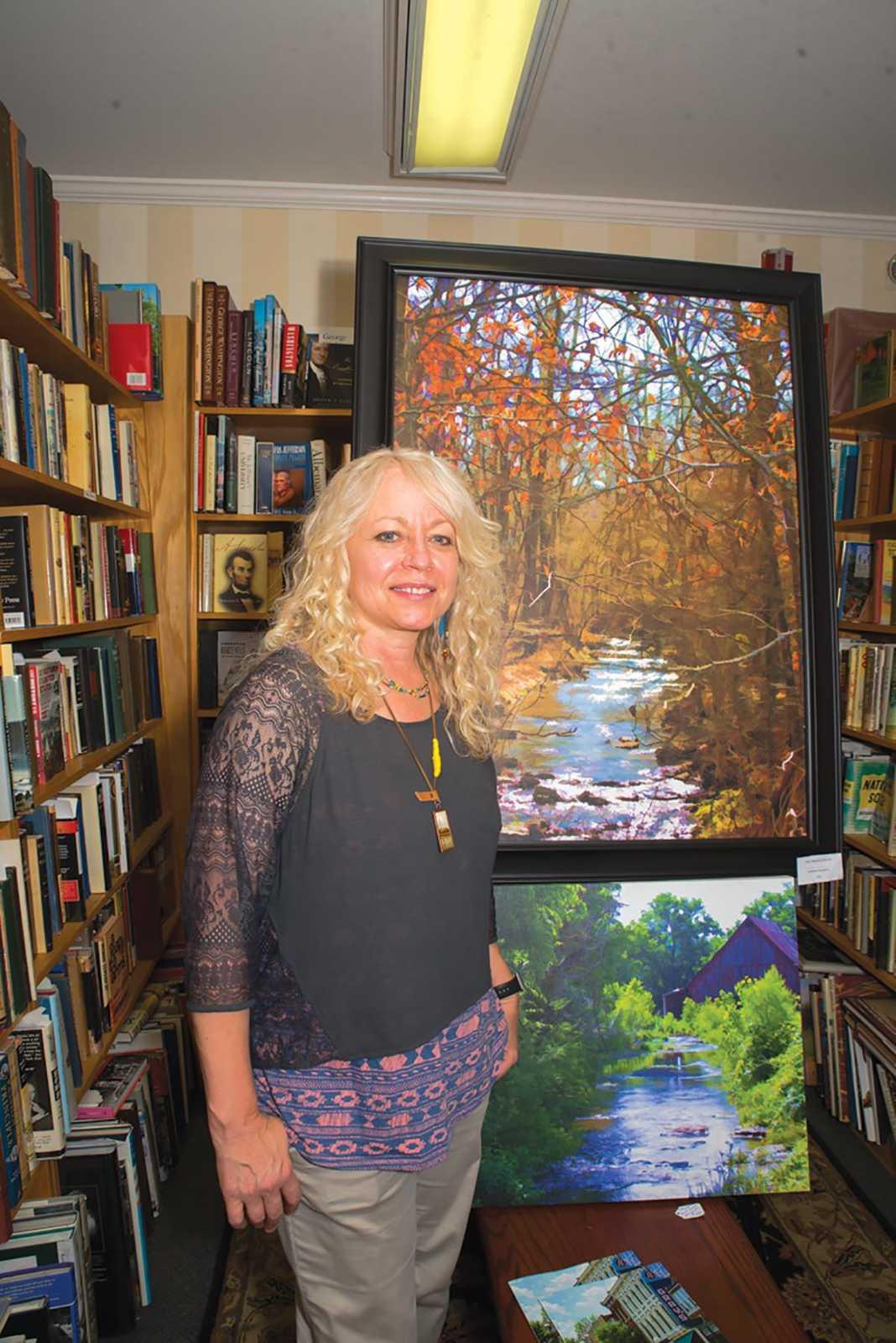 Debbie Smartt at Landmark Booksellers. Photograph by Tiffani Bing