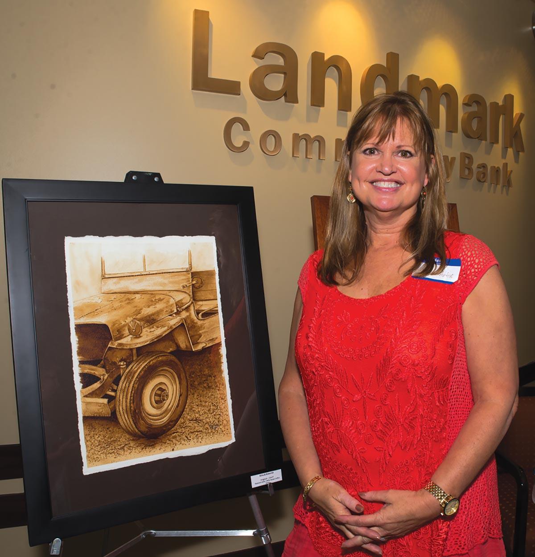 Cheryl Buehring at Landmark Community Bank. Photograph by Tiffani Bing