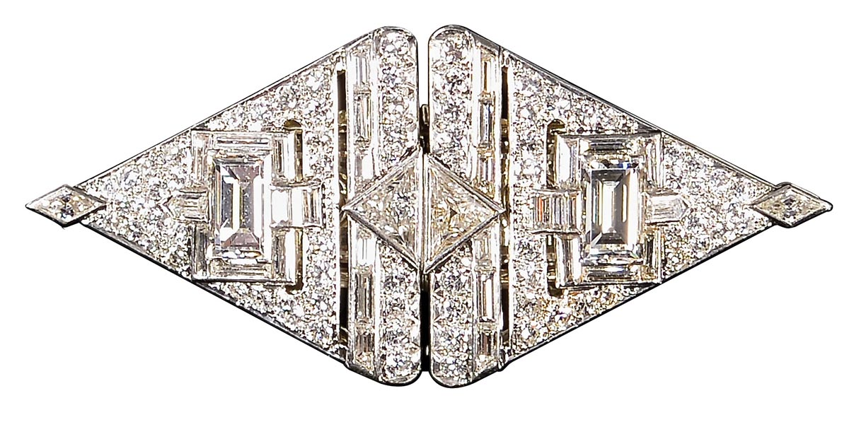 Circa 1950s diamond and platinum brooch by George Headley, sold for $22,400 William