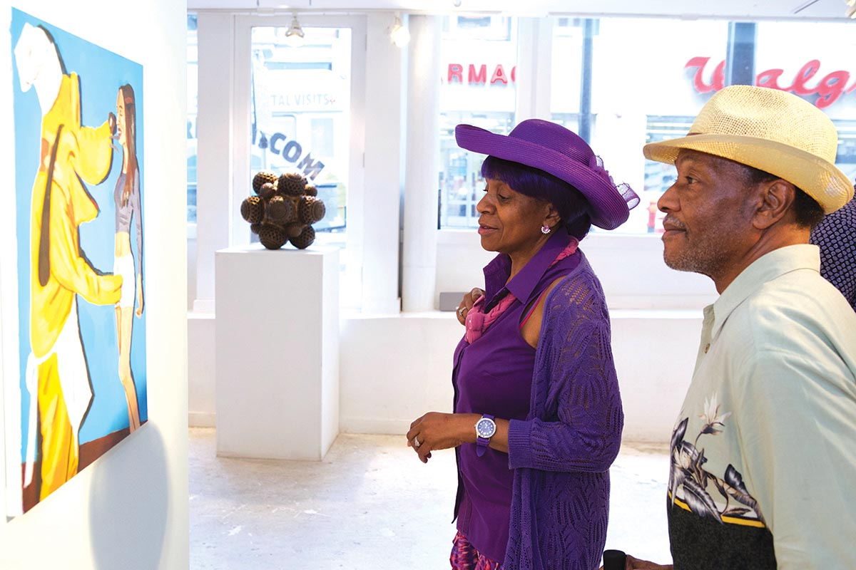 Patricia and Darnell Jones at The Rymer Gallery