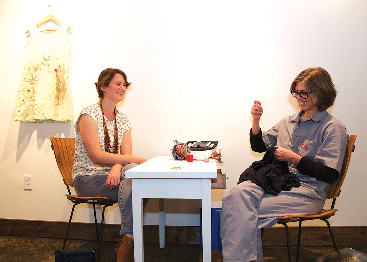 Mandy Jones and Mary Addison Hackett at Seed Space