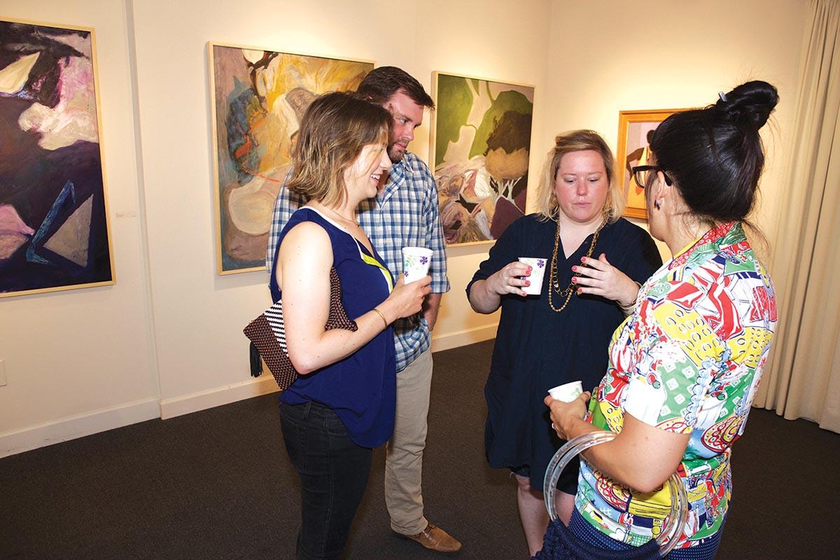 Mary Beth Ballard, Chris Murray, Louisa Glenn and Nieves Uhl at Julia Martin Gallery