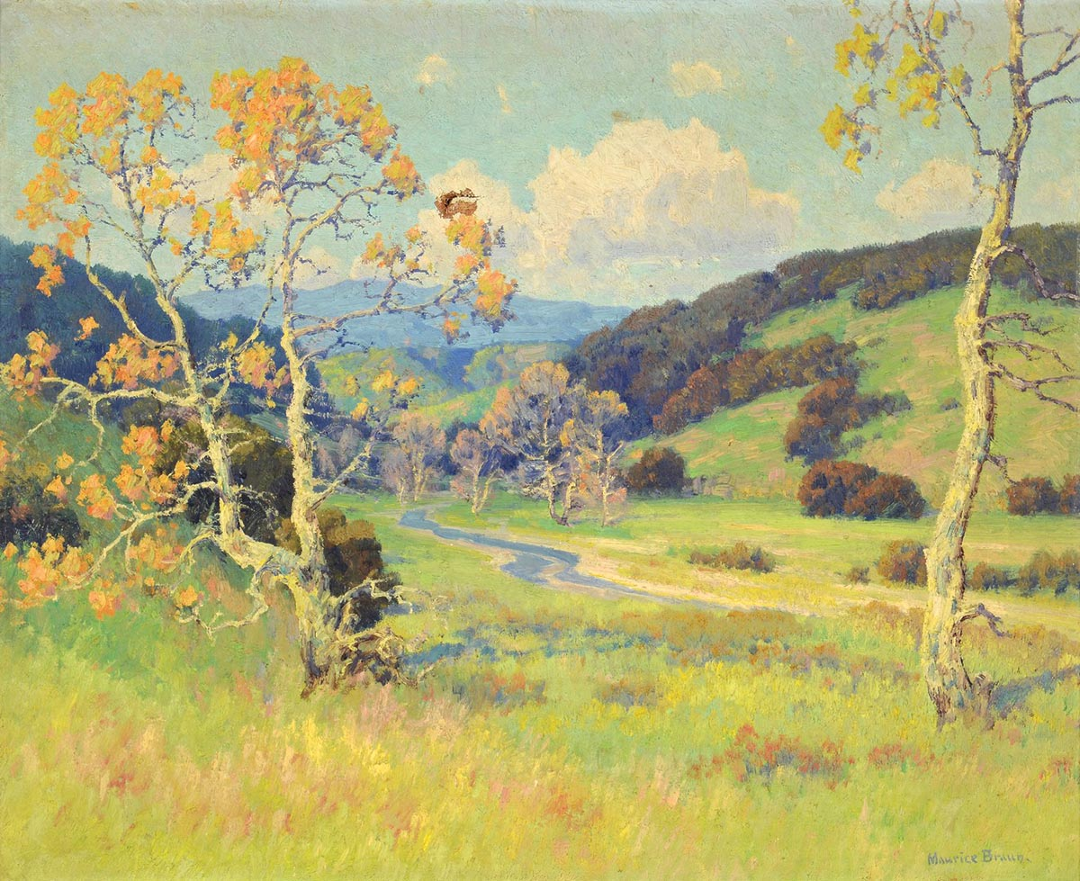 Maurice Braun, Untitled, Oil on canvas, sold for $24,780