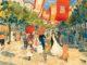 "Maurice Prendergast, Via Garibaldi, Venice, 1898-1899, Watercolor and pencil on paper, 11"" x 14"""