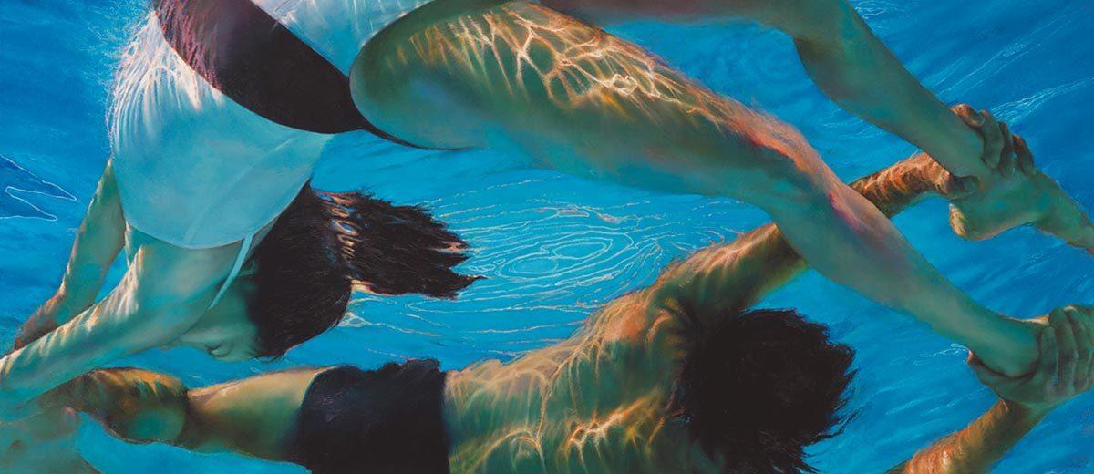 "Bridge, 2012, Oil on canvas, 48"" x 79"""