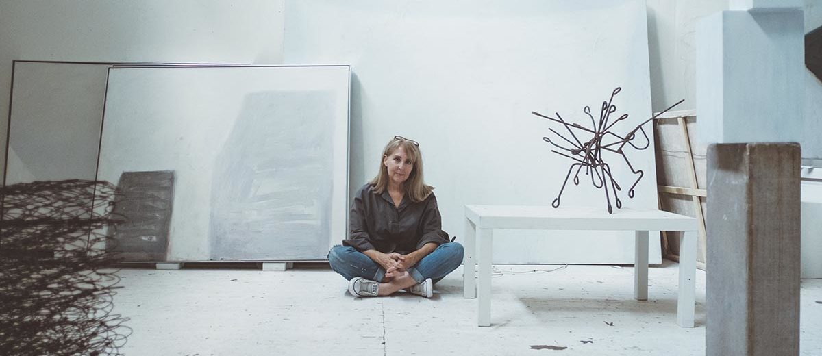 Kit Reuther in her studio Photograph by  Joshua Black Wilkins